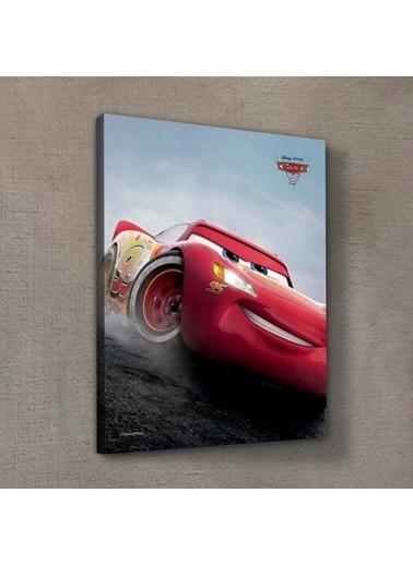 Disney Cars 30x40 cm Kanvas Tablo Renkli